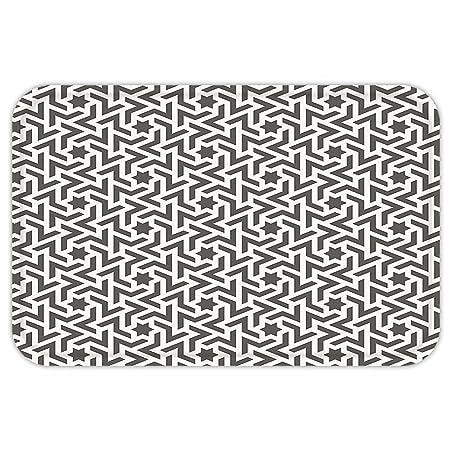 kisscase Custom puerta matmodern adhesivo de decoración antigua Mohawk Patten como blanco bordergeometric ilustraciones blanco y ejército verde: Amazon.es: ...