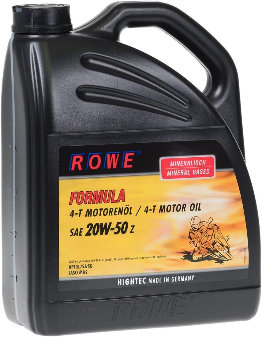 Rowe 5 Liter Hightec Formula Sae 20w 50 Z Motorenöl Für 4 Takt Motorräder Auto