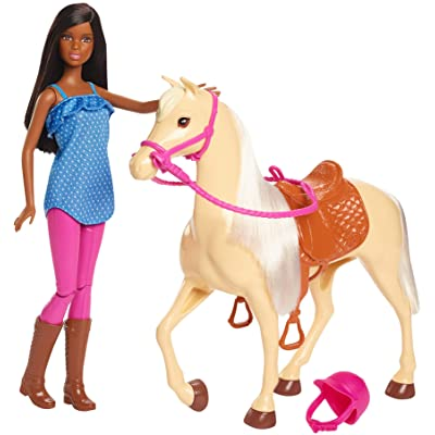 Barbie Doll, Brunette, and Horse, Gift for 3 to 7 Year Olds: Toys & Games