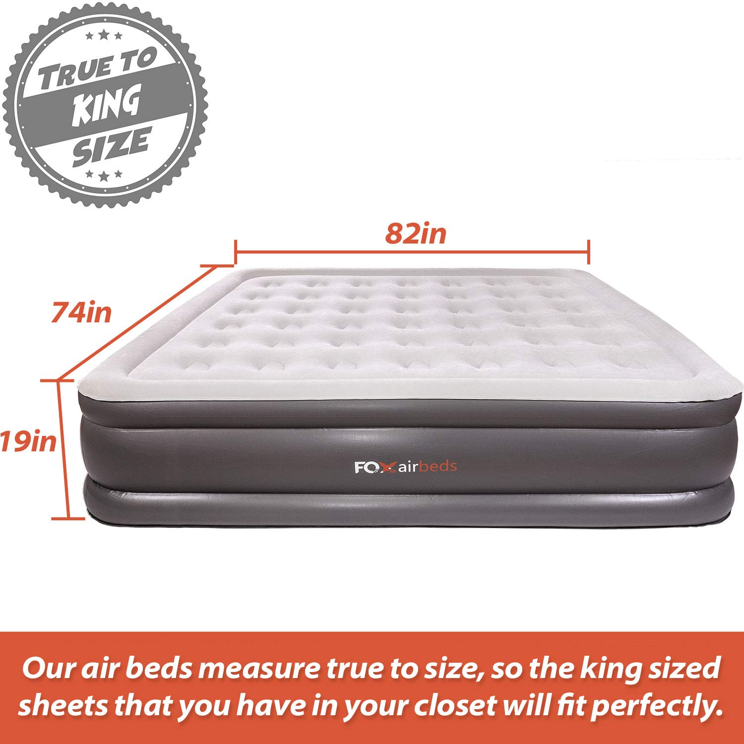 Amazon Com Best Inflatable Bed By Fox Airbeds Plush High Rise Air