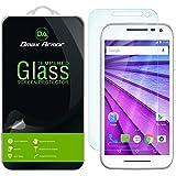 Moto G (3rd Gen) Glass Screen Protector, Dmax Armor Motorola Moto G 3rd Generation (2015) Screen protector [Tempered Glass] Ballistics Glass, Anti-Scratch, Anti-Fingerprint, Round Edge [0.3mm]- Retail Packaging