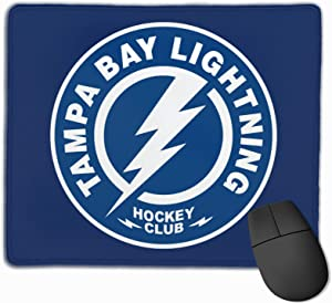 Tampa Bay Lightning Mouse Pad Thickened Football Logo Trumpet Wrist Game Large Mouse Mat Custom Laptop Table Mat Office Student(11.8 in X 9.8 in)