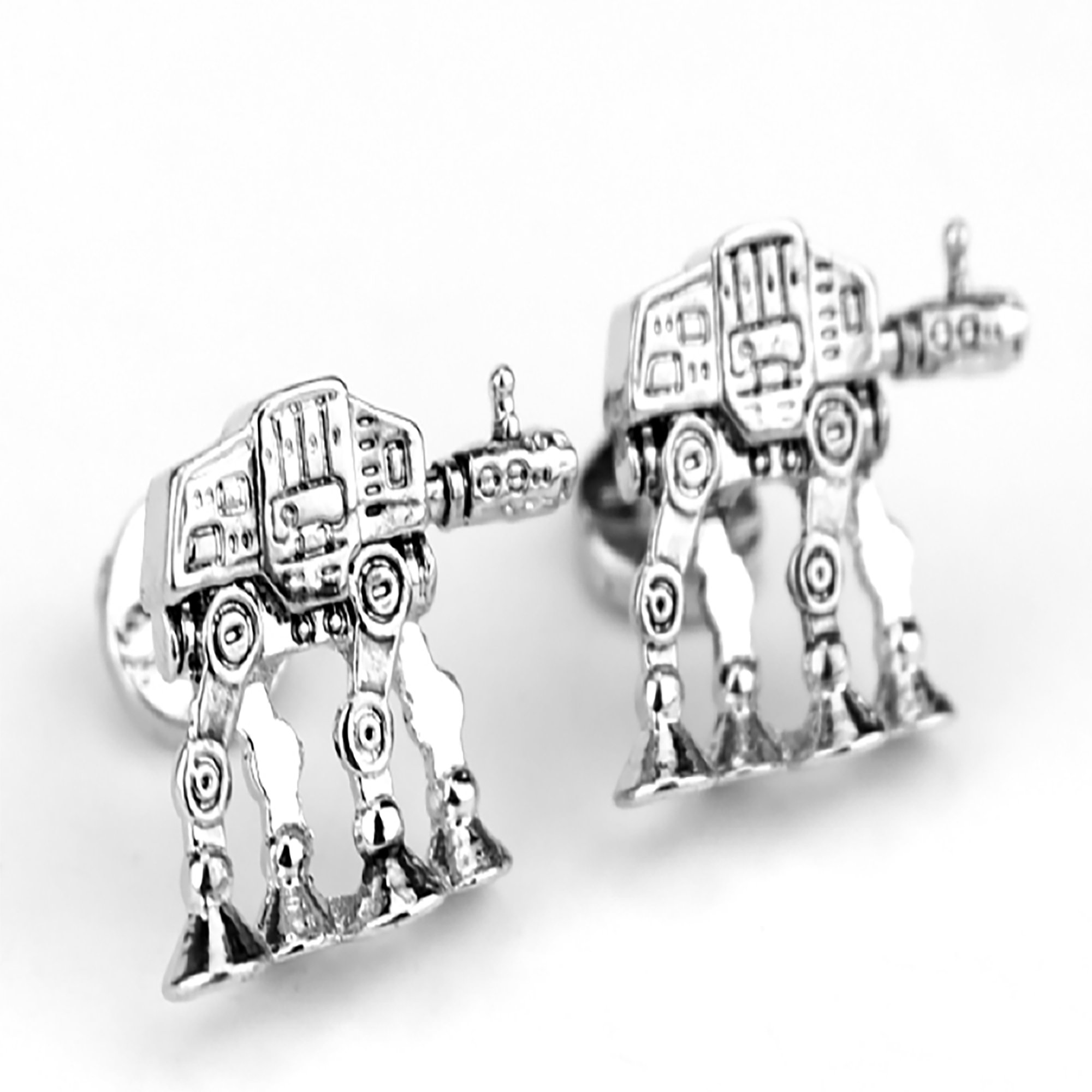 Hand Poured and Cast Star Wars Themed Cufflinks (AT-AT Walker 3D)