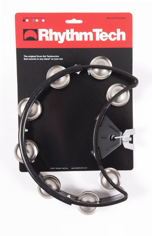 RhythmTech DST10 Drum Set Tambourine Nickel Jingles, Black