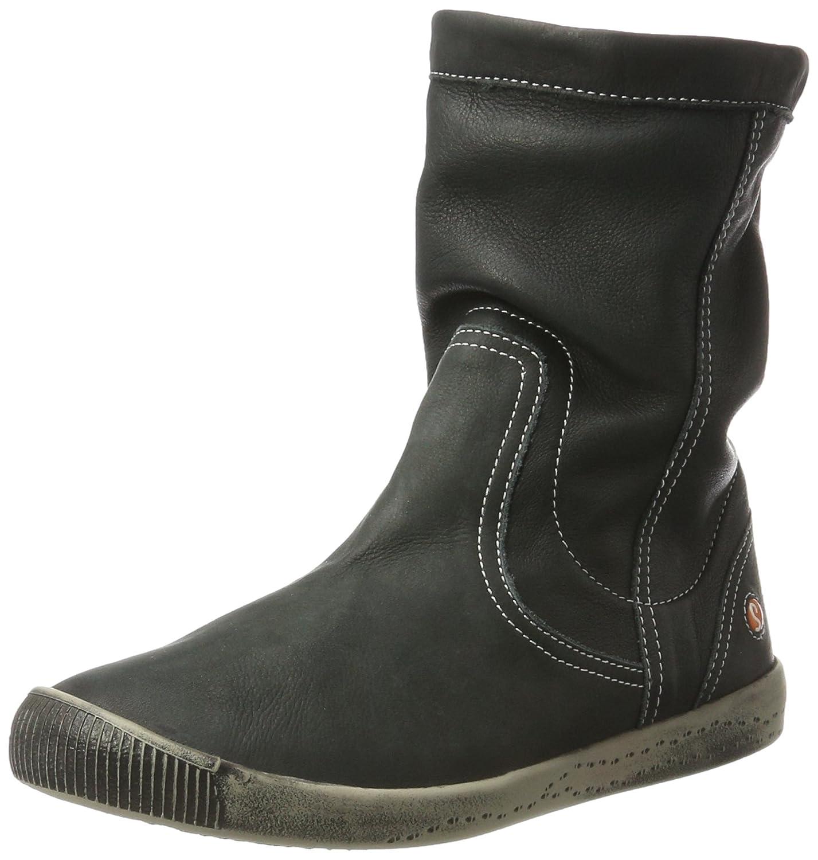 Softinos Iggy269sof Smooth, Botas Plisadas para Mujer Negro (Black 030)