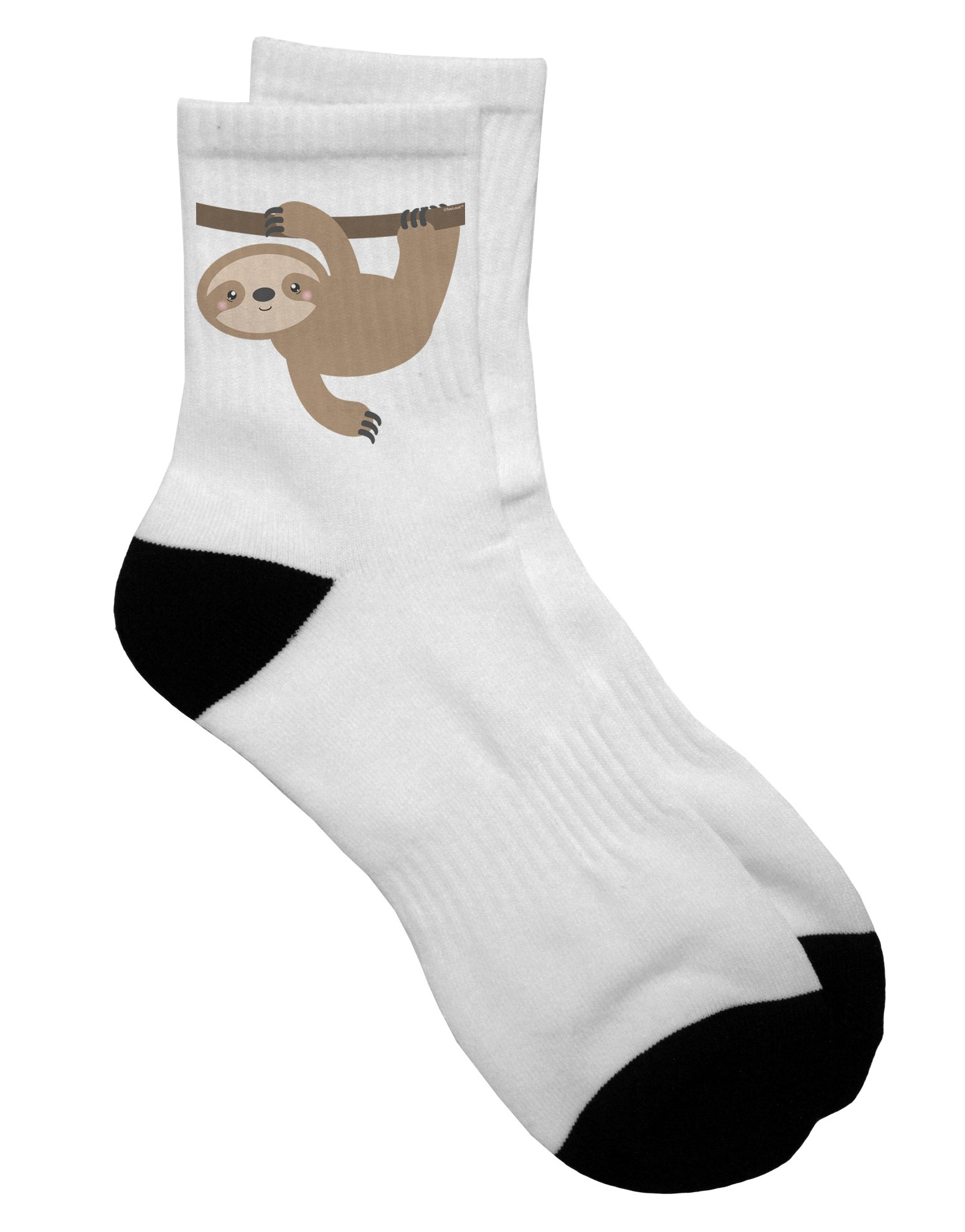 Tooloud Cute Hanging Sloth Adult Short Socks - Select Your Size -