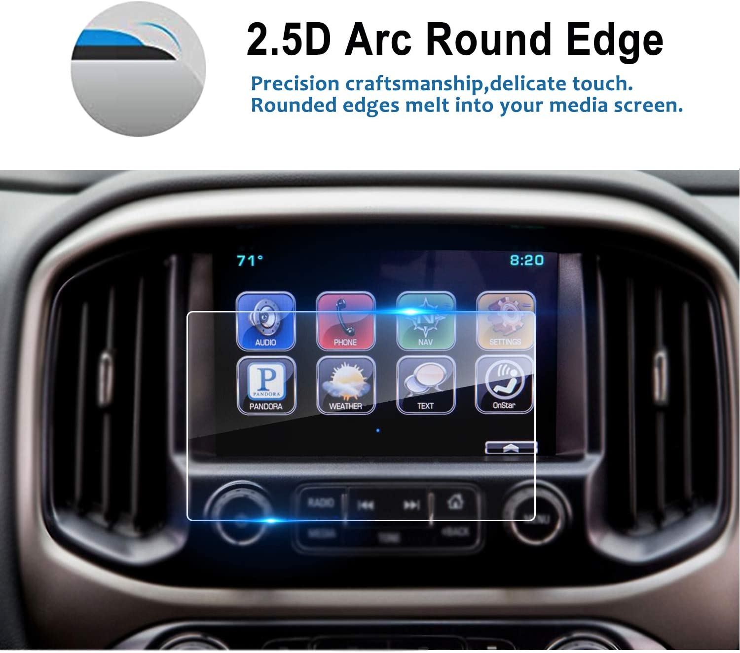 LFOTPP Car Navigation Screen Protector for Impala 8 inch MyLink 2014-2018 Tempered Glass Center Touch Screen Protector Anti Scratch High Clarity