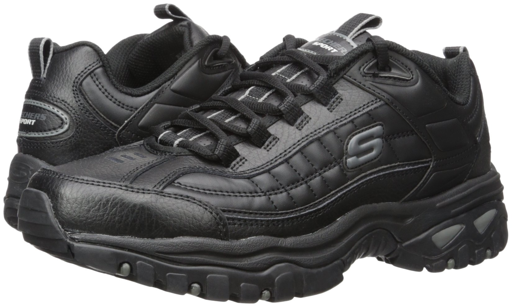 Skechers Sport Men's Energy Afterburn Lace-Up Sneaker,Black,13 M by Skechers (Image #6)