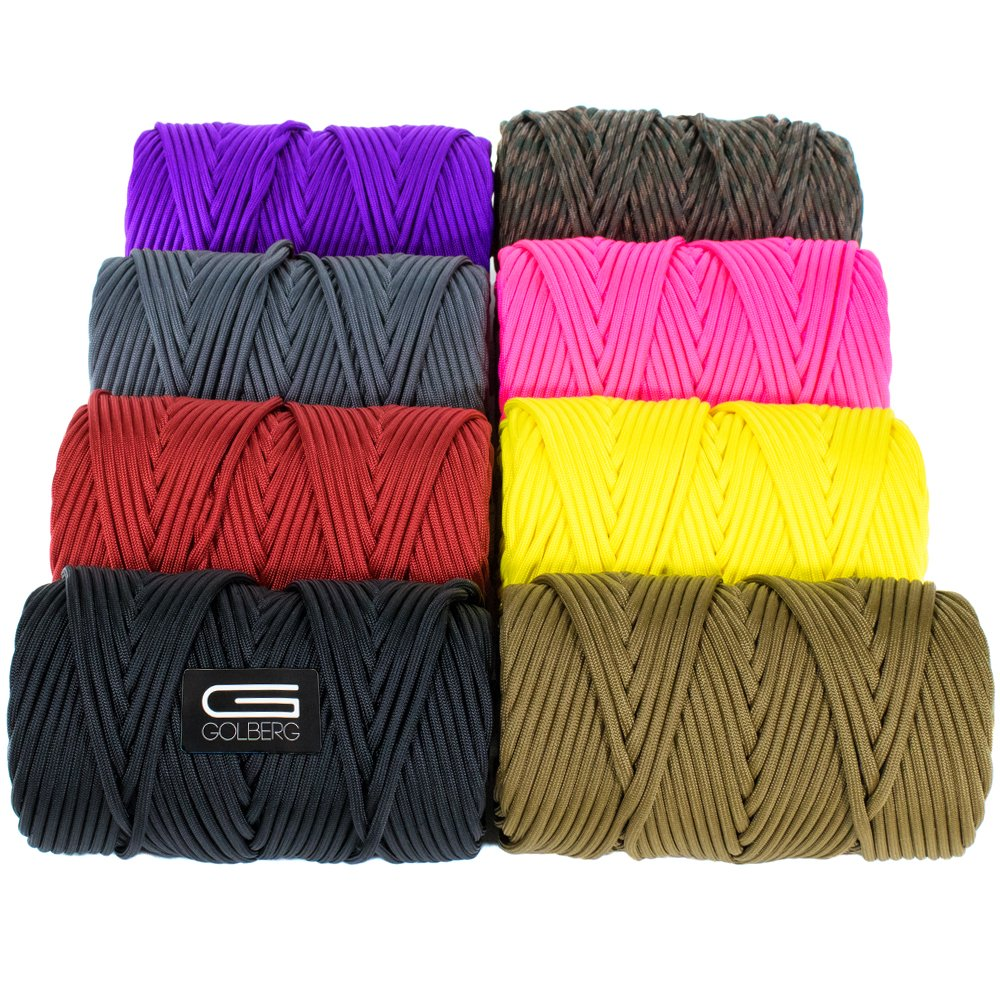 GOLBERG Type IV 750 LB Paracord/100% Nylon Made in USA/Several Colors & Lengths