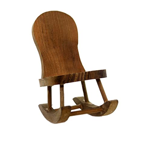reputable site 8eede 7baa7 Amazon.com: Miniatures Rocking Chair Wood Granny Child ...