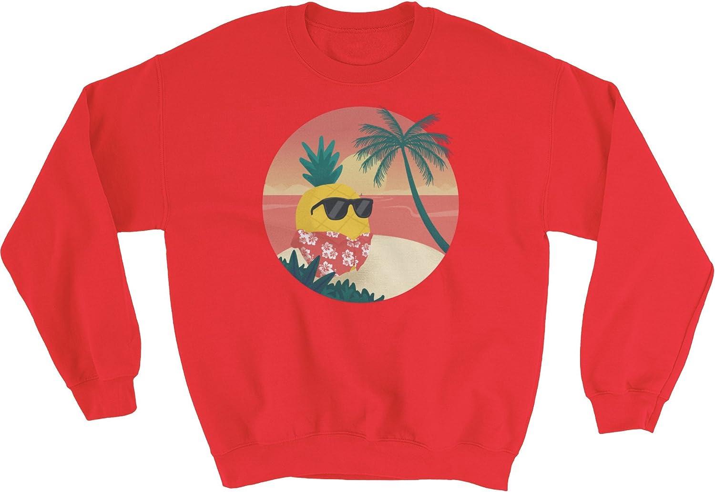 The Jazzy Panda Men's Pineapple Crewneck | Tropical Hawaiian Sweatshirt