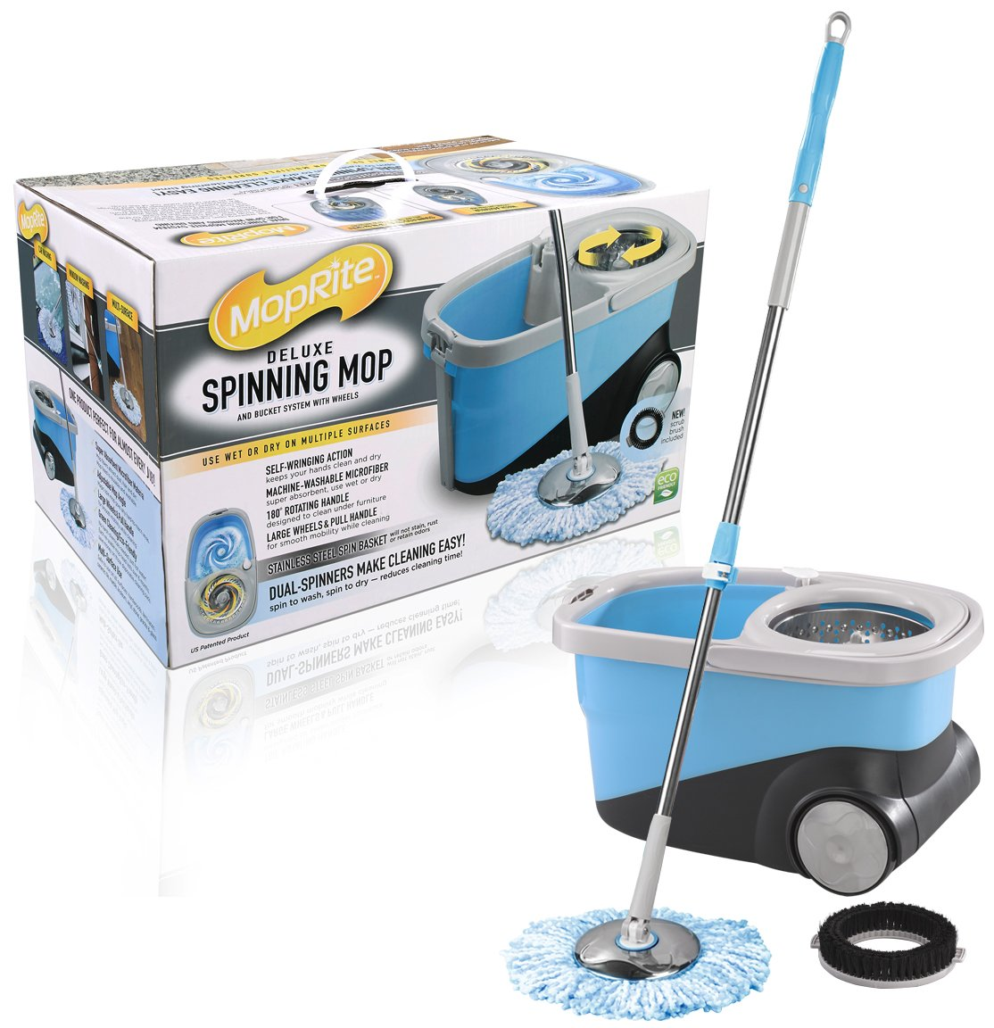 how to use spin mop dual bucket