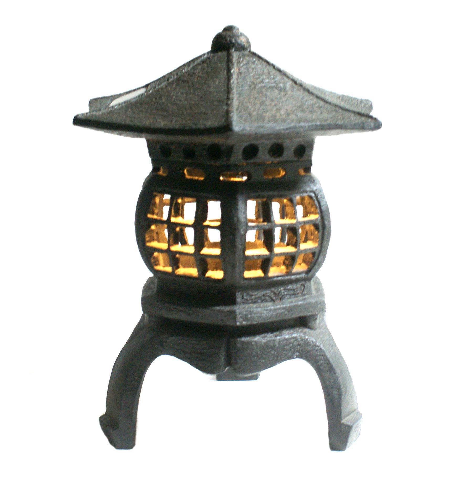 TIAAN 12'' height Japanese lantern Solar garden lamp Solar pagoda light