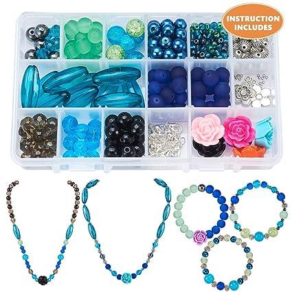 68800138009a SUNNYCLUE 1 Set 350 + pcs Kit de joyería de Lujo para Hacer abalorio ...