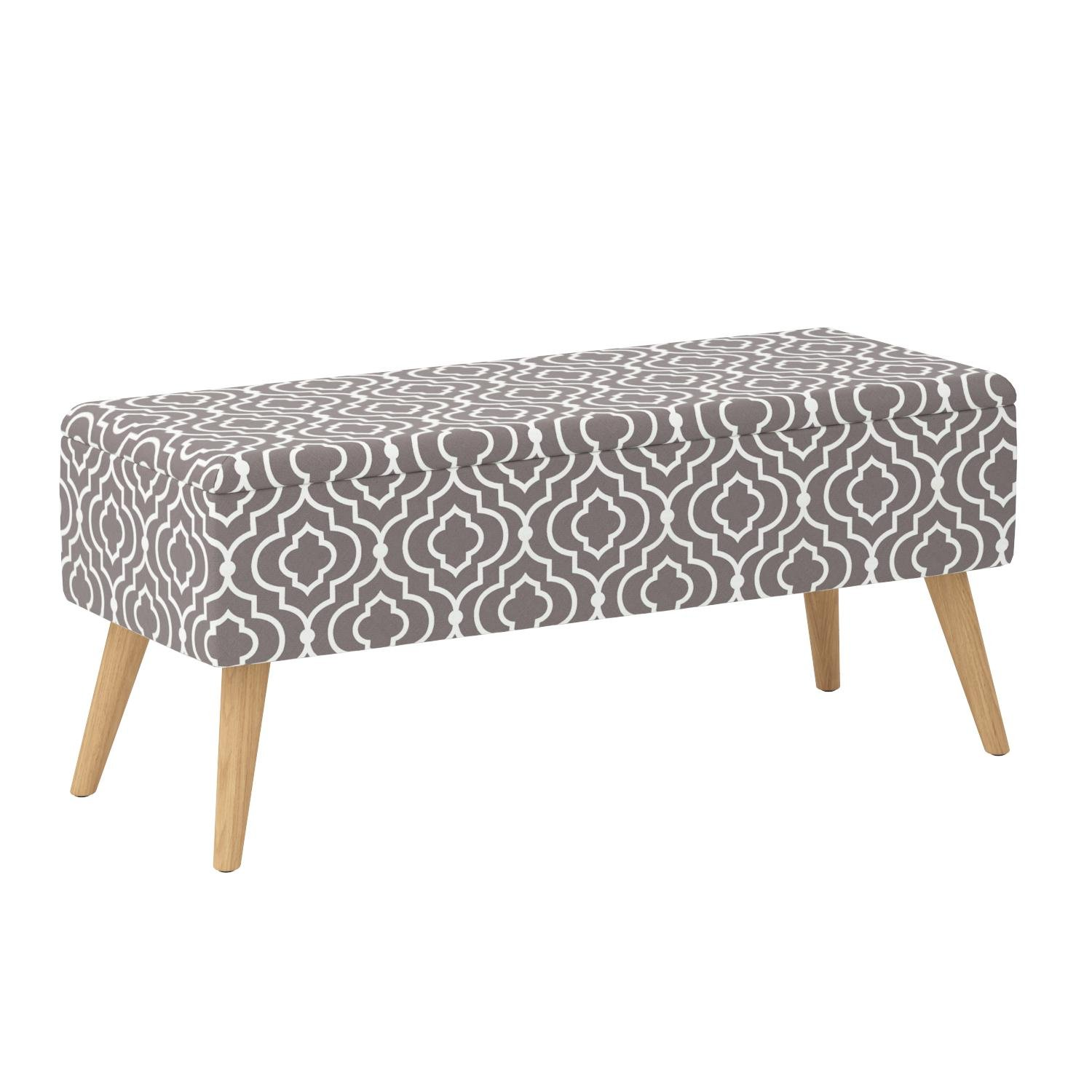 Pleasant Details About Otto Ben 37 Storage Ottoman Bench With Easy Lift Top Upholstered Large Shoe Squirreltailoven Fun Painted Chair Ideas Images Squirreltailovenorg