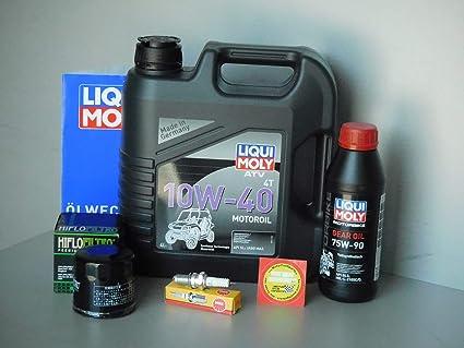 MotorFunSports Yamaha YFM 350 Wolverine Mantenimiento e inspección Set Aceite Filtro bujía Quad: Amazon.es: Coche y moto