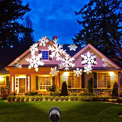 hosyo snowflake projection lights motion christmas landscape projector spotlight projection lights led decoration lamps for - Led Projector Christmas Lights
