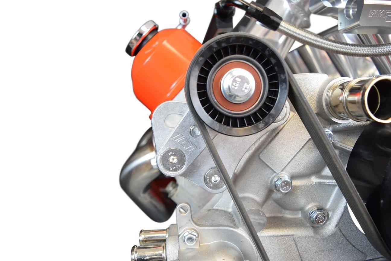 LS1 98-02 Camaro Z28 Manual Belt Tensioner w/ Pulley LS LS2 GTO Billet Aluminum 551617X-2