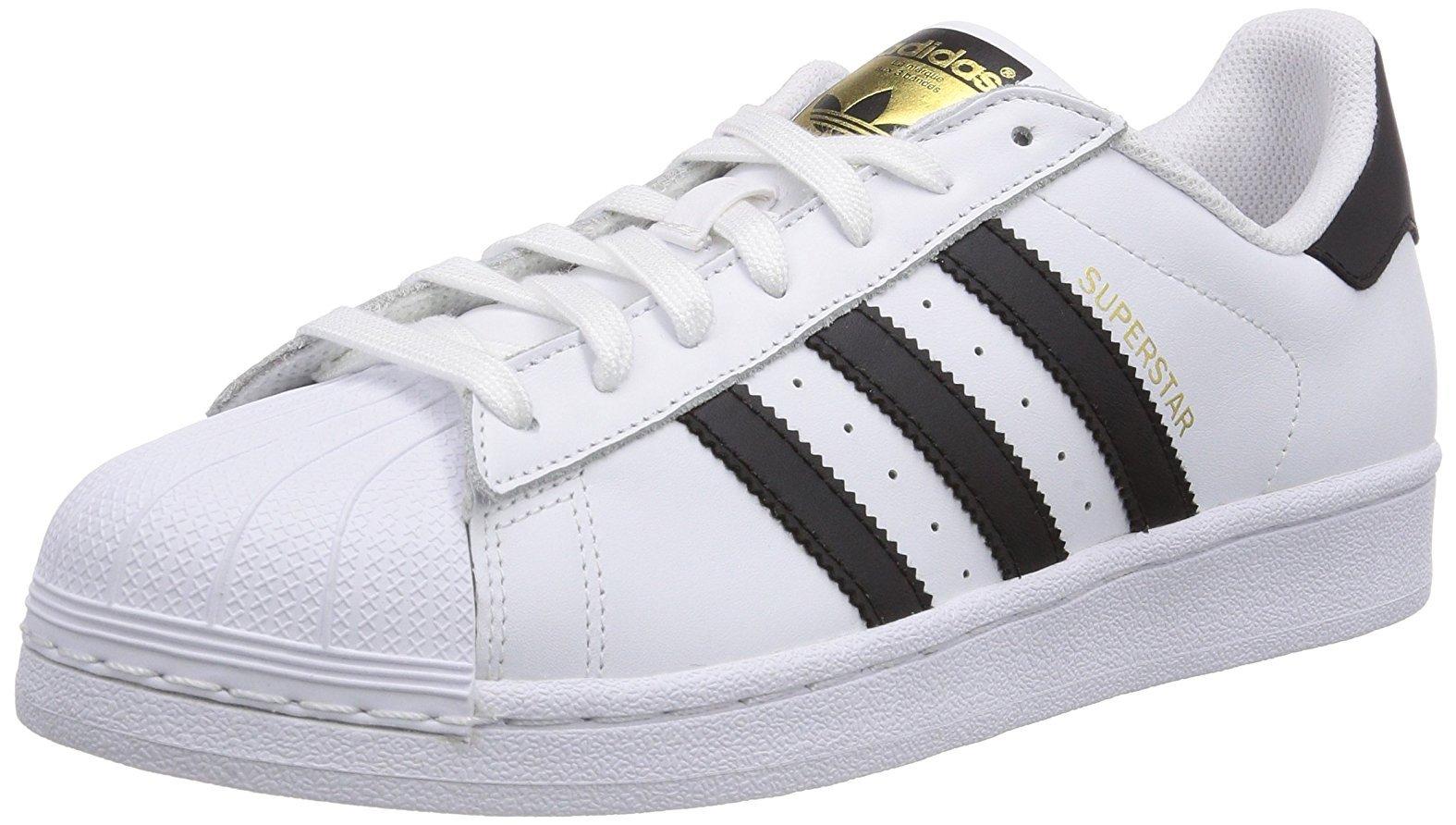 nero ADIDAS scarpe bianco unisex pelle C77124 44 SUPERSTAR ORIGINALS qIwvIp