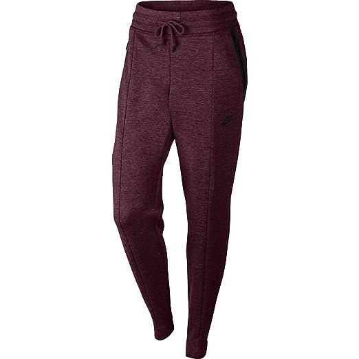 d93d1ffe2d62 Nike Sportswear Tech Fleece Women s Pants Night Maroon Heather Black  803575-681 (