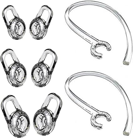 Ear Hooks for Plantronics M25 M55 M70 M90 M155 M165 Mobile Bluetooth Headset Loops Clear Spare Clamp Replacement 9 Pack