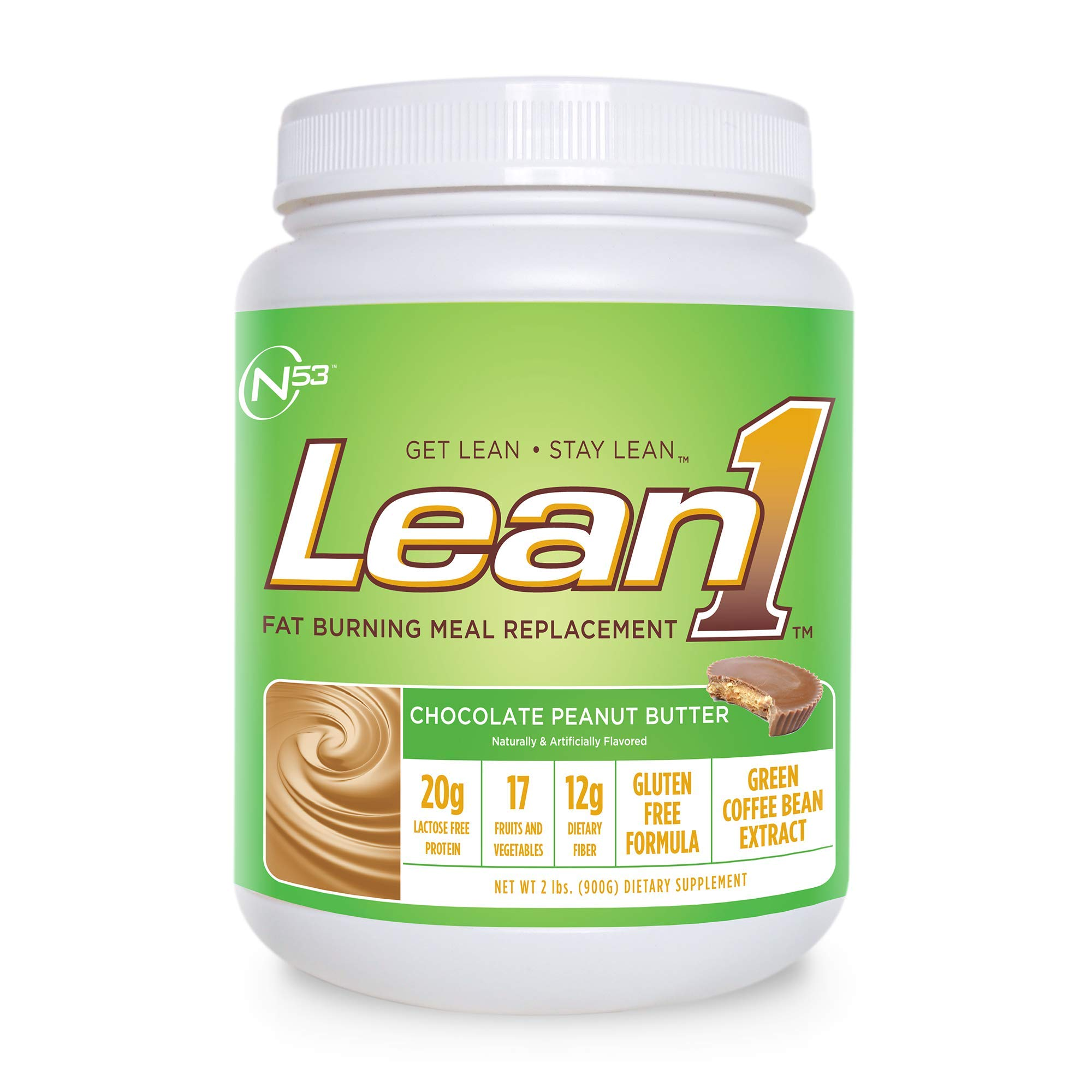 Nutrition 53 Lean 1 Dietary Supplement, Chocolate Peanut Butter, 1.98 lb by LEAN1