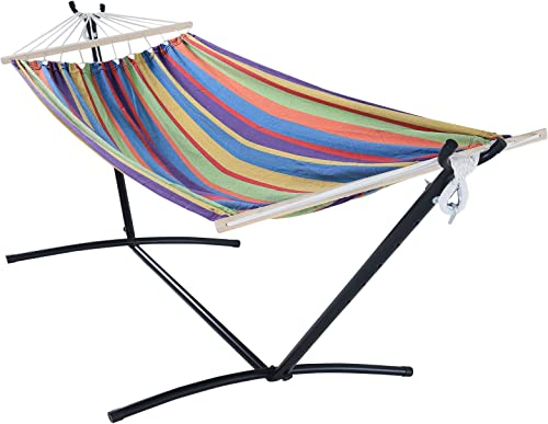 OUTDOOR WIND 550lbs Capacity Double Hammock Adjustable Hammock Bed
