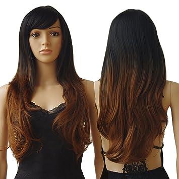 S-noilite® 28 quot  70CM Women s Long Full Head Wigs Natural Curly Wavy b8f76f35fa