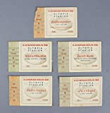 1936 Olympic Games Berlin Ticket Stubs Lot