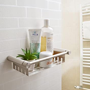 KES Stainless Steel Shower Caddy Removable Basket Shelf With Tower Bar  Bathroom Wall Mount Brushed Finish