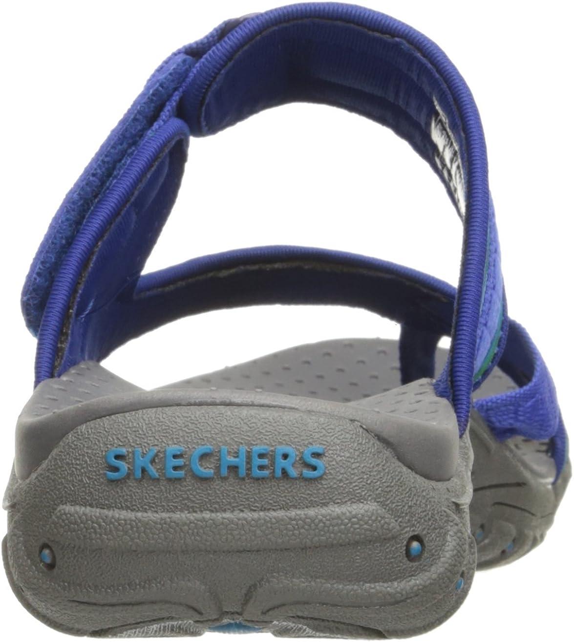 Skechers Reggae-Zig Swag, Tongs Femme Blue Green