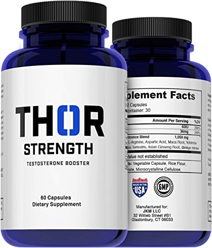 Healthy Lifestyle Group Thor Strength Testosterone Boost Increase Muscle Mass, Decrease Fat, Increase Energy, Focus, Passion, Drive Improve Overall Mood 1