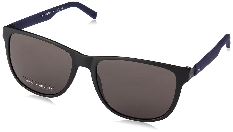 Tommy Hilfiger Unisex-Adult's TH 1403/S NR Sunglasses, Mtblack Blue, 56 R5Y TH1403/SNRR5Y56_R5Y