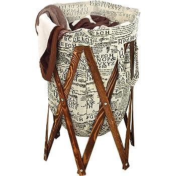 Amazon Com Kindwer Vintage Wire Laundry Basket Hamper