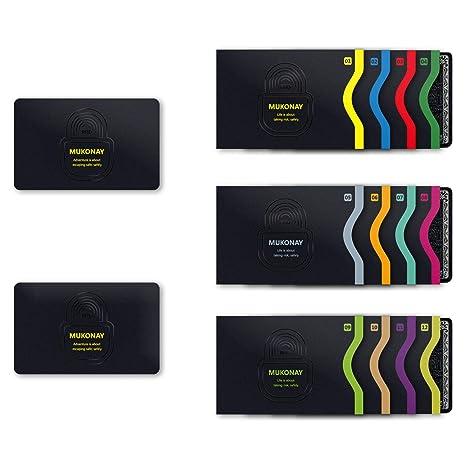 Amazon.com: Mukonay - Funda para tarjetas de crédito RFID ...