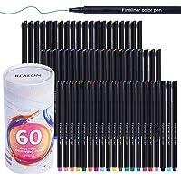 60 Colored Felt Tip Journal Planner Pens Fine Point Markers Fineliner Drawing Pen for Journaling Writing Note Taking Calendar, School Office Art Supplier