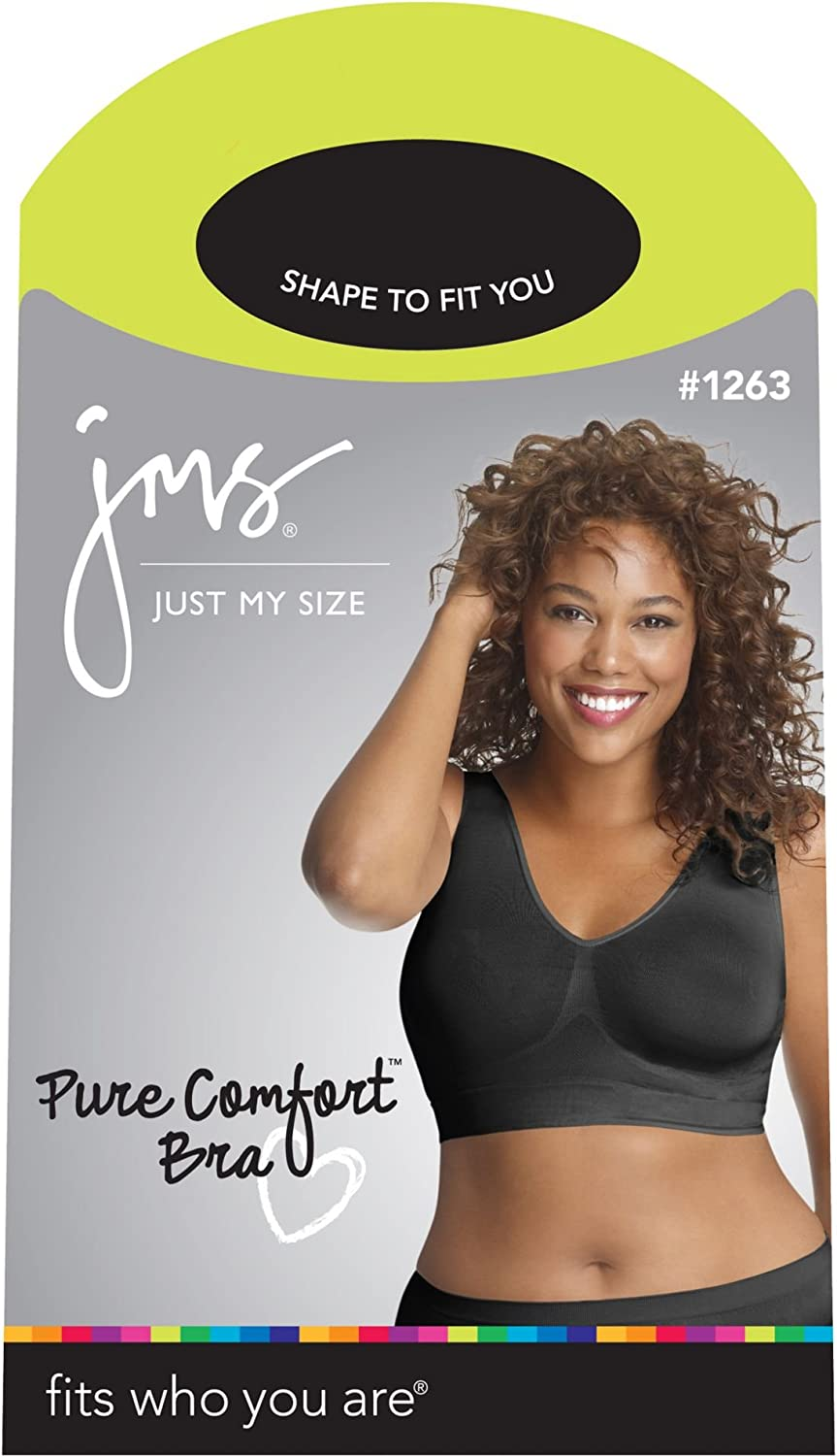 1263 Just My Size Womens Pure Comfort Plus Size Bra