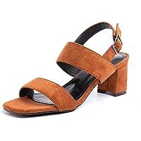 Sandalias Mujer Tacon Verano Correa de Tobillo Zapatos Cierre de Hebilla Punta Abierta Elegantes Moda Boda Negro Blanco…