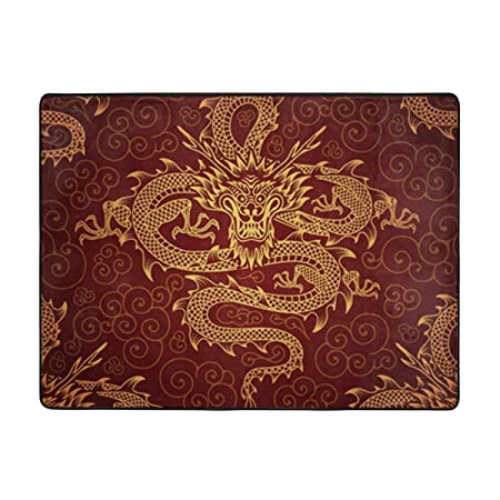 Csiemns Animal Dragon Fiery - Alfombra Antideslizante para ...
