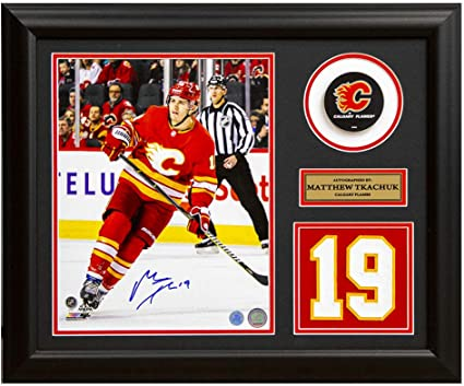 Matthew Tkachuk Calgary Flames Signed Retro Franchise Jersey Number 19x23 Frame At Amazon S Sports Collectibles Store