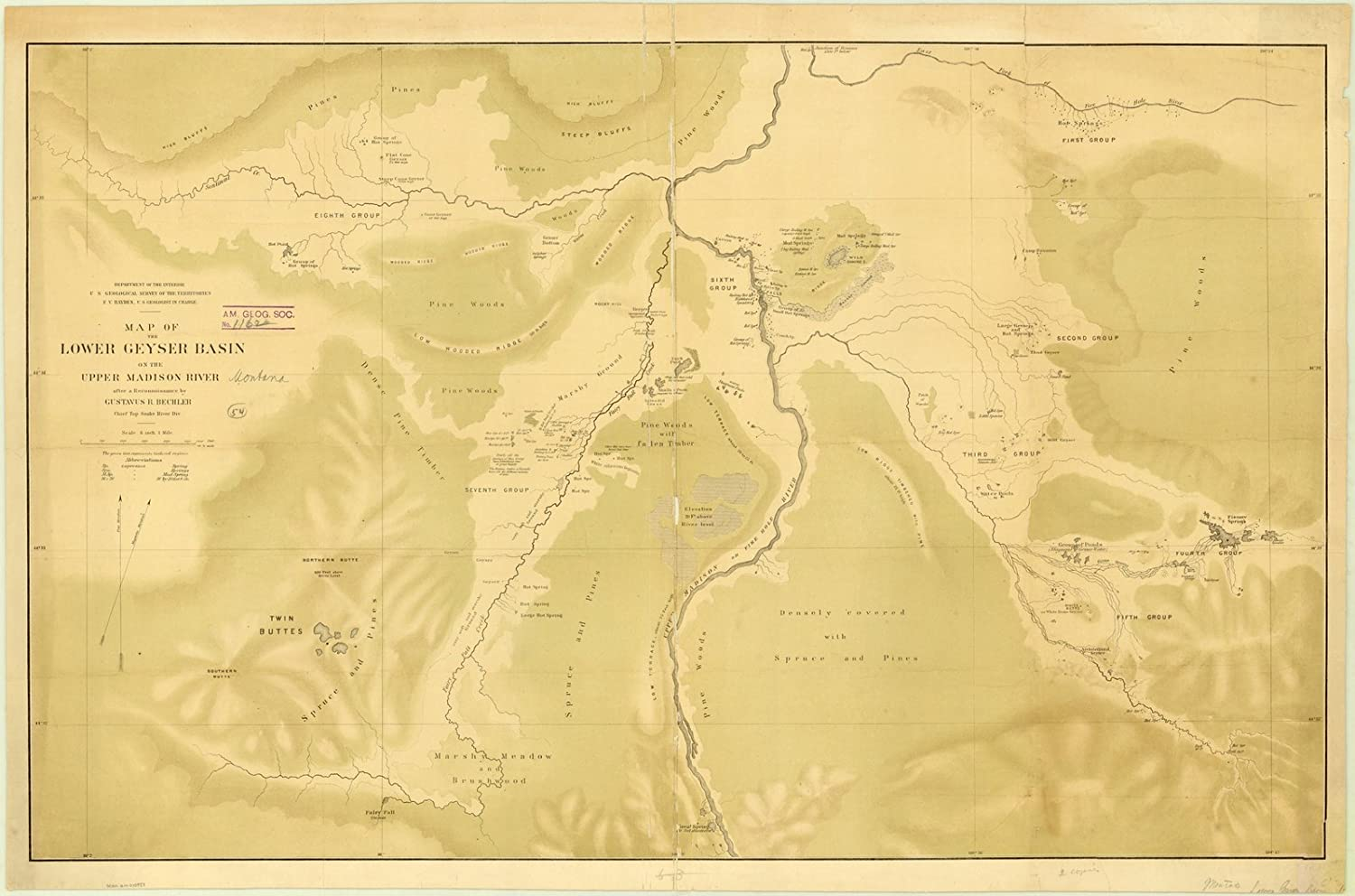 Amazon.com: Historic Map | Geyser Basin, Montana 1872 | Map ... on firehole river map, waukesha county river map, tuscumbia river map, albion river map, gallatin river map, mishawaka river map, seattle river map, cannonball river map, fluvanna river map, maries river map, yorktown river map, hebgen lake map, eugene river map, montana rivers map, st. augustine river map, salem river map, poquoson river map, folsom river map, sunflower river map, quad cities river map,