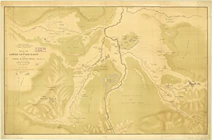 Madison River Montana Map.Amazon Com Historic Map Geyser Basin Montana 1872 Map Of The