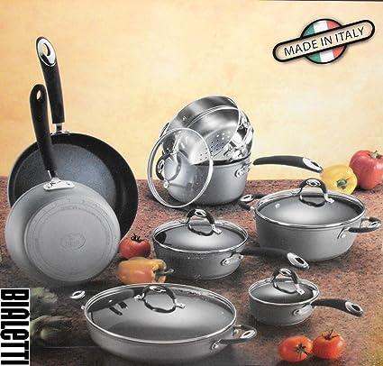 Bialetti - Batería de cocina antiadherente (13 piezas)
