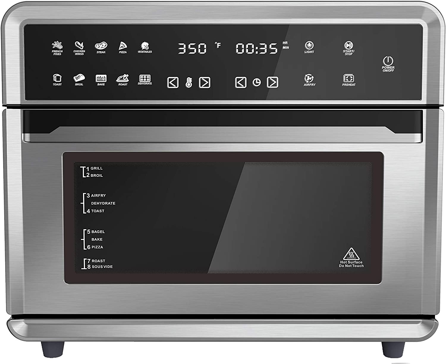Caso Design 26-qt Air Fryer Toaster Oven, 13180, stainless, small