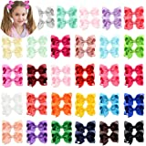 58pcs 3 Inches Baby Girls Hair Bows Alligator Clips Grosgrain Ribbon Bows Hair Barrettes for Kids Toddlers Teens