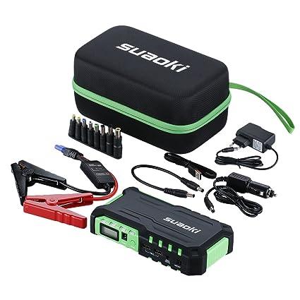 Suaoki G7 - Jump Starter 18000mAh, 600A arrancador emergencia para coche (vehículo de gas o diesel con bateria 12V, linterna LED, USB puertos ...