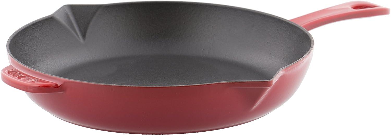 Staub Sartén de Hierro Fundido con Mango 40510-717-0, Hierro Fundido, Color Rojo Cereza, de 26 cm: Amazon.es: Hogar
