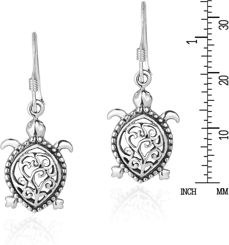 Turtle Earrings Pearl Earrings Sterling Silver Dangle Earrings Earring Jewelry AF352 Gift The Silver Plaza