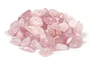 Shiny Stone Rose Quartz Crystal, Decorative Aquarium Gravel Rocks Stone Pebbles for Fish Tank Aquarium Decor Home Garden Succulent Gifts Decoration (Rose Quartz, 20-30mm)