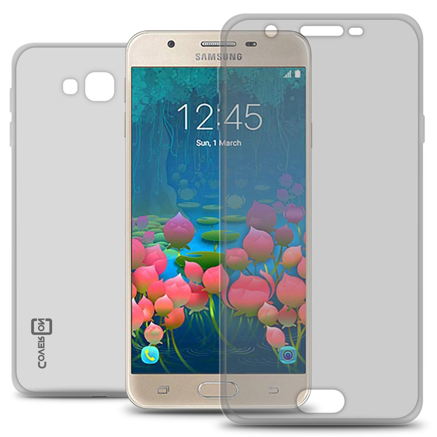 Galaxy J5 Prime Case, Galaxy On5 Case (2016 Version Only), CoverON [WrapGuard Series] Full Body Two Piece Ultra Slim Fit Clear TPU Cover Phone Case ...